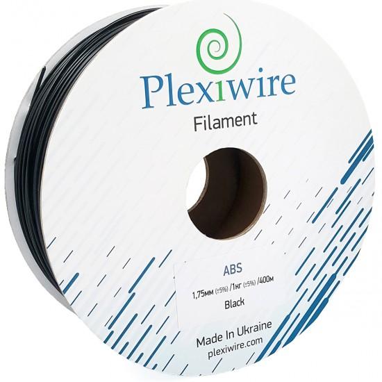 ABS + plastic Plexiwire for 3D printer 1.75 mm black (400 m / 1 kg)