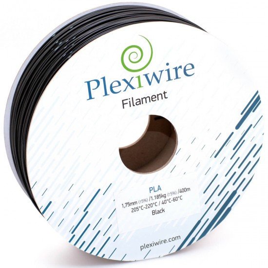 PLA plastic Plexiwire for 3D printer 1.75 mm black (300 m / 0.9 kg)