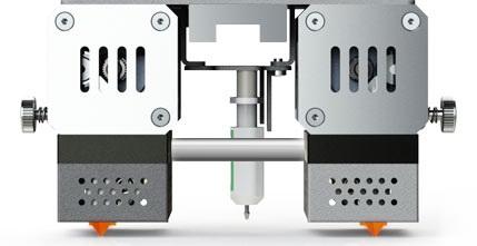 CreatBot PEEK 300 print head with dual extruder
