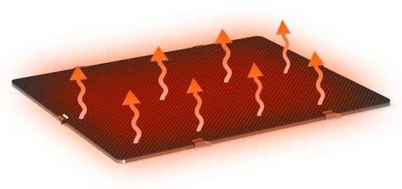 CreatBot PEEK 300 print bed up to 200 °C